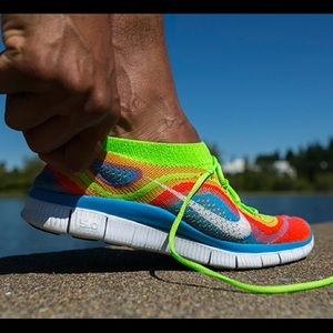 Nike Free Flyknit+ Electric Green Sneakers Shoes